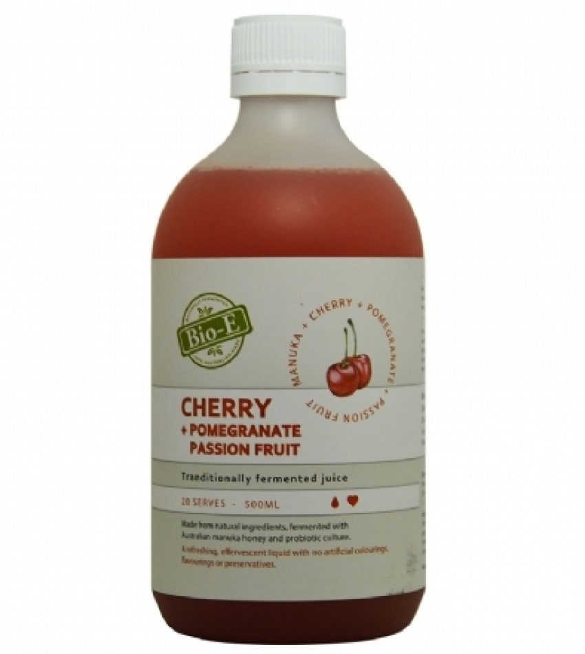 Bio-E 天然樱桃玫瑰石榴酵素 舒畅金莎推荐500ml BIO-E Cherry+Pomegrante Passion Frui 500ml
