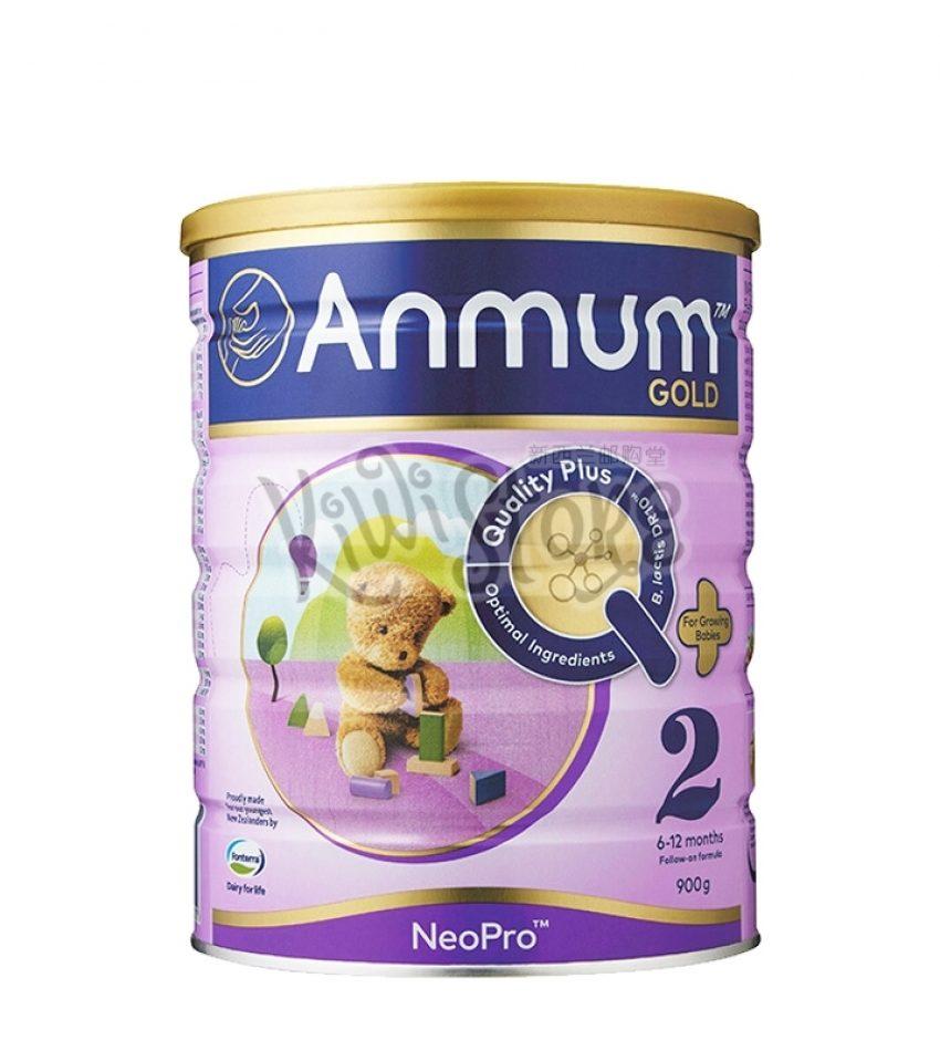 【包邮】Anmum安满 奶粉2段(6-12月)婴儿配方奶粉 900g/罐 新西兰直邮 Anmum Gold Milk Powder 900g  ( 3罐/ 6罐 可选)(22年9月到期)