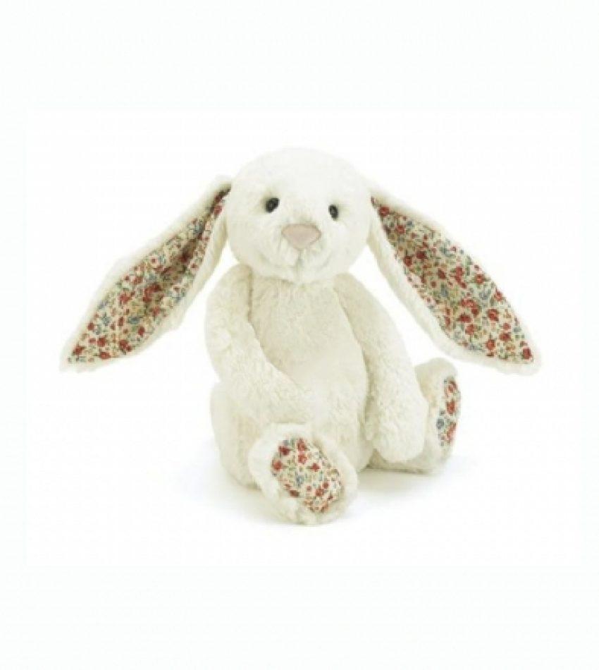 Jellycat 中号害羞邦尼兔 奶白色 (花耳朵)                    兔子                                                                  Jellycat Medium Blossom Cream Bunny