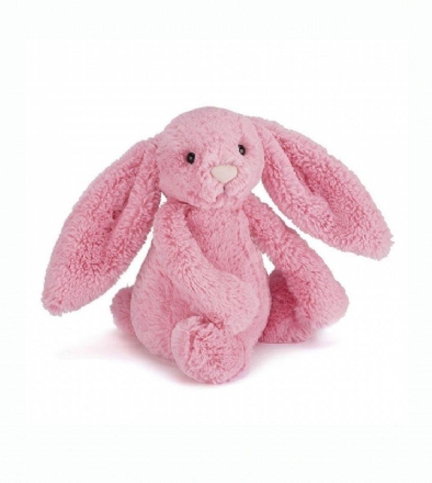Jellycat 中号害羞邦尼兔 樱花粉                               兔子                                                      Jellycat Medium Bashful Sorbet Bunny