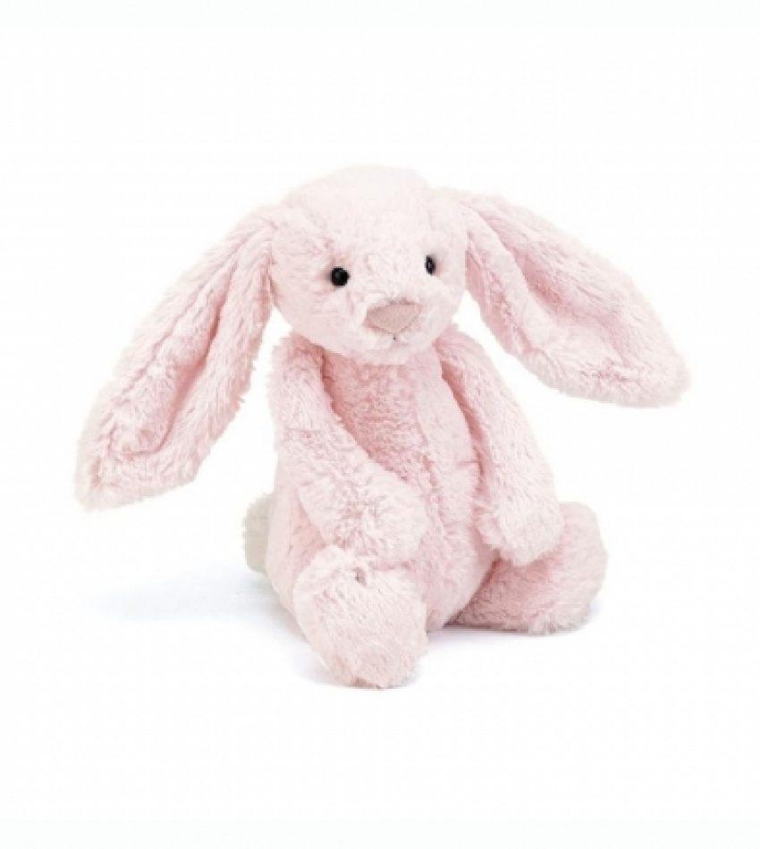 Jellycat 中号害羞邦尼兔 水粉色  兔子                                                                    Jellycat Medium Bashful Pink Bunny