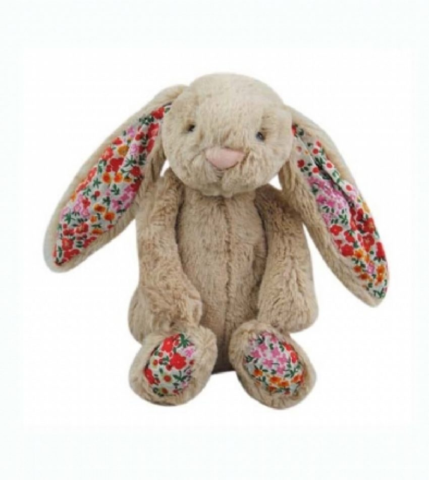 Jellycat 中号害羞邦尼兔 浅棕色 (花耳朵)         兔子                                                                    Jellycat Medium Blossom Beige Bunny