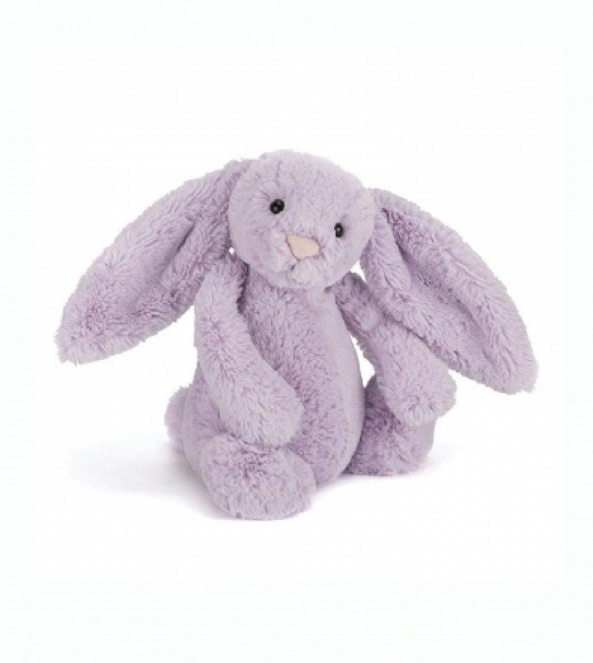 Jellycat 中号害羞邦尼兔 淡紫色                                                   兔子                             Jellycat Medium Bashful Hyacinth Bunny