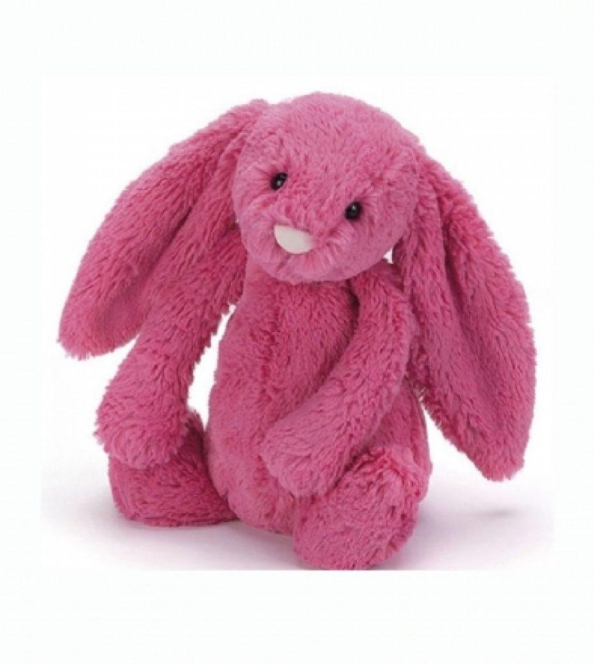 Jellycat 中号害羞邦尼兔 草莓红              兔子                                                           Jellycat Medium Bashful Strawberry Bunny
