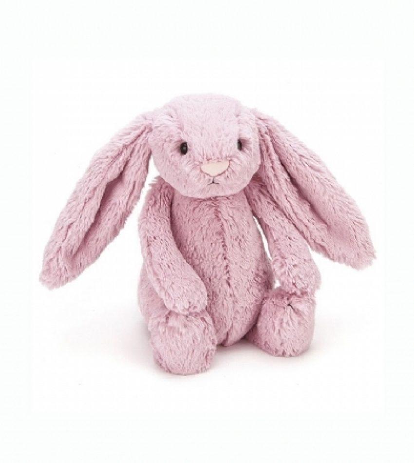 Jellycat 中号害羞邦尼兔 郁金香粉                          兔子                                                            Jellycat Medium Bashful Tulip Pink Bunny
