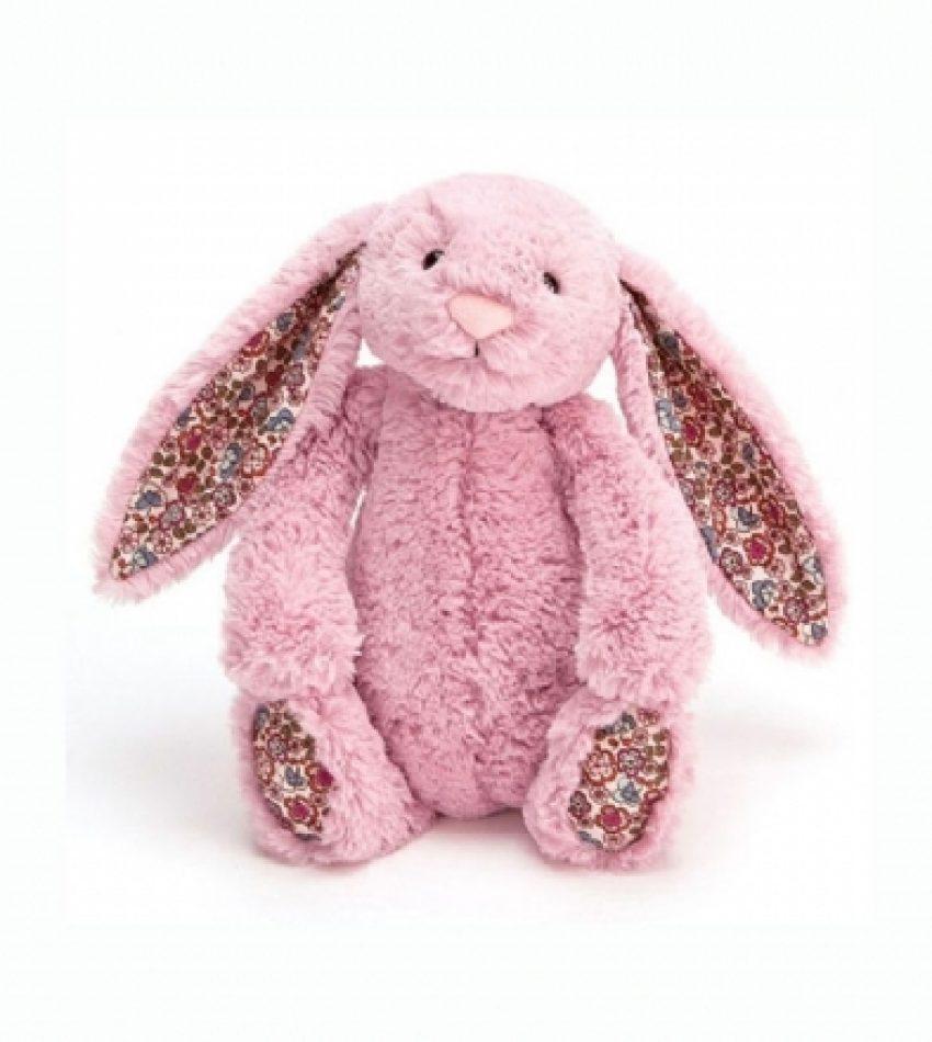 Jellycat 中号害羞邦尼兔 郁金香粉(花耳朵)         兔子                                                                                                            Jellycat Medium Blossom Tulip Pink Bunny