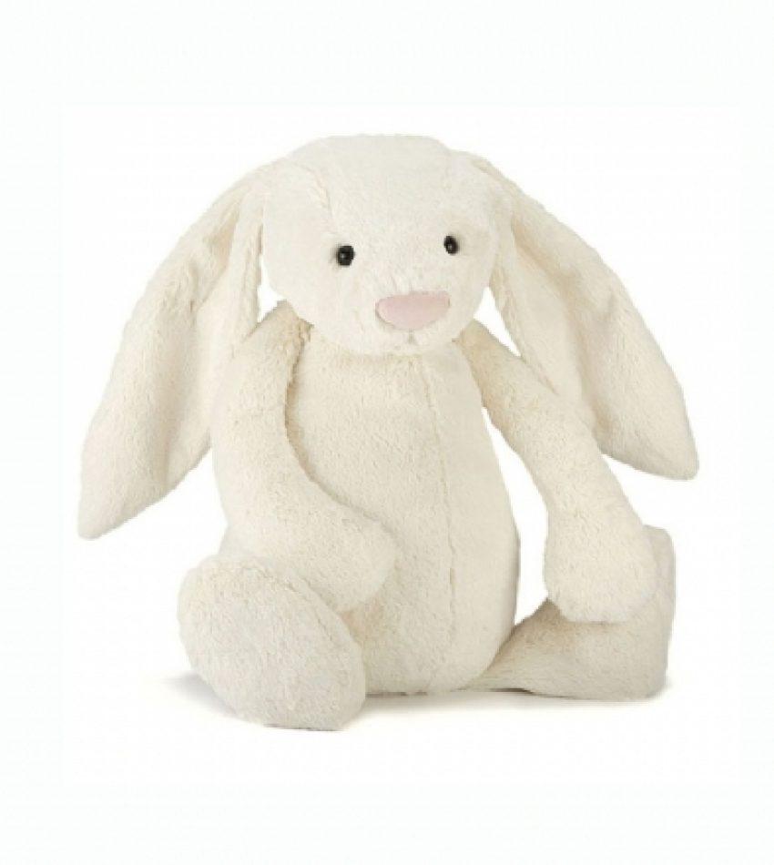 Jellycat 超大号害羞邦尼兔 奶白色 兔子Jellycat Huge Bashful Cream Bunny