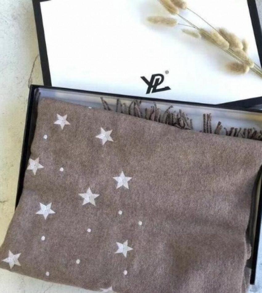 YPL星空羊绒围巾秋冬保暖空调房披肩百搭长款 200cm*70cm 两色可选 (包邮)