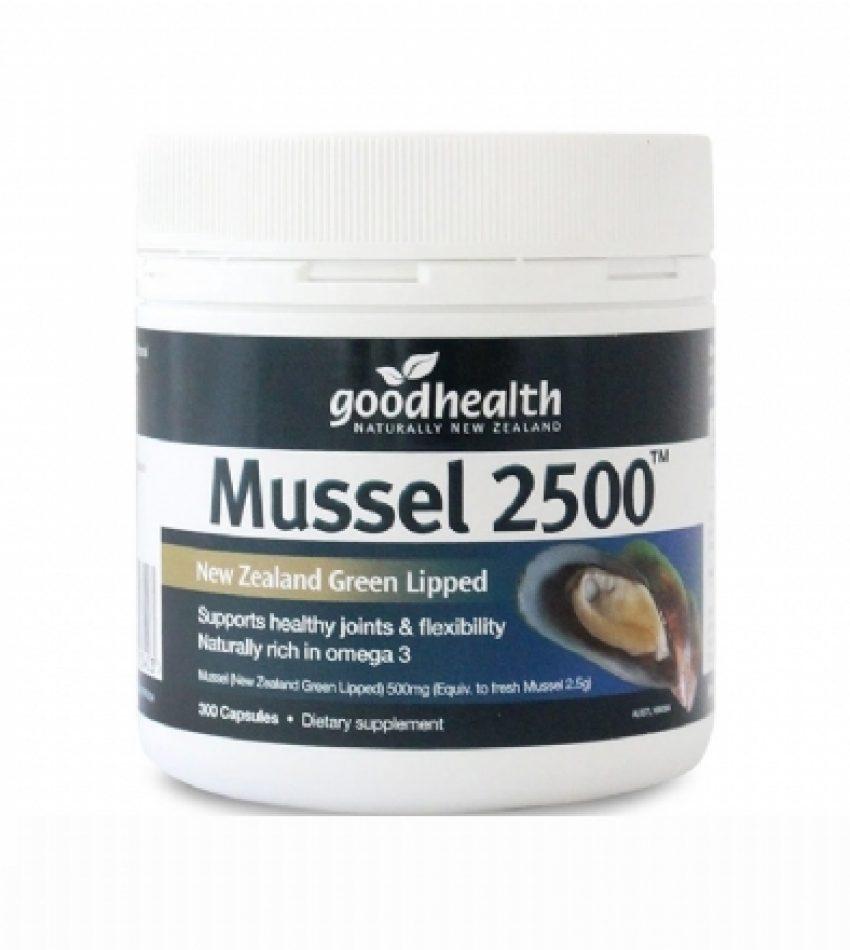 Good Health好健康 青口精华胶囊 300粒 Good Health Mussel 2500mg 300Cap