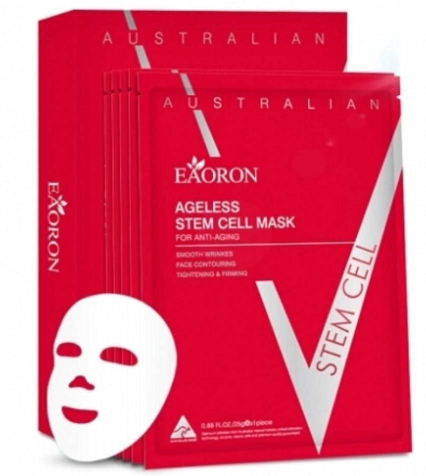 Eaoron水光针 抗衰老 微雕V脸面膜 25g*5片/盒 Eaoron Ageless Stem Cell Mask(买一送一 本链接包含两盒面膜)