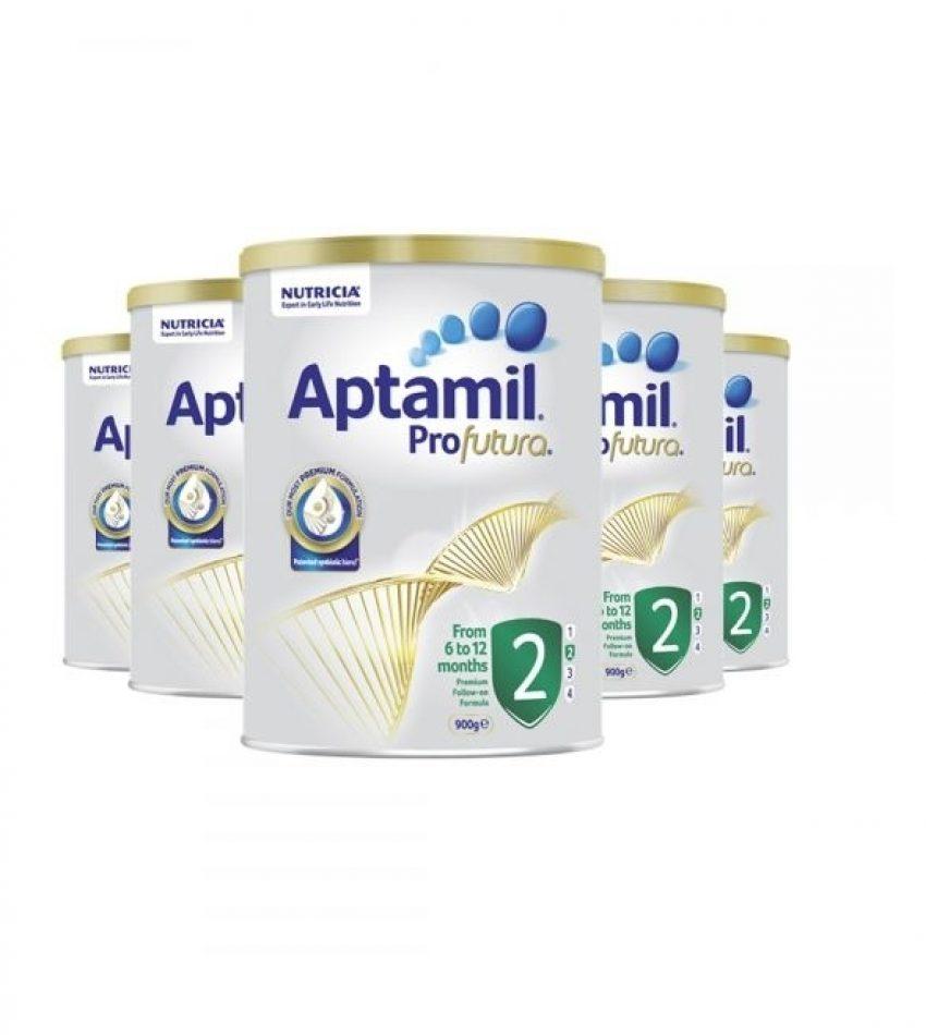 【包邮】Aptamil爱他美 铂金装婴儿配方奶粉 2段*6罐(6-12个月)(22年3月到期)