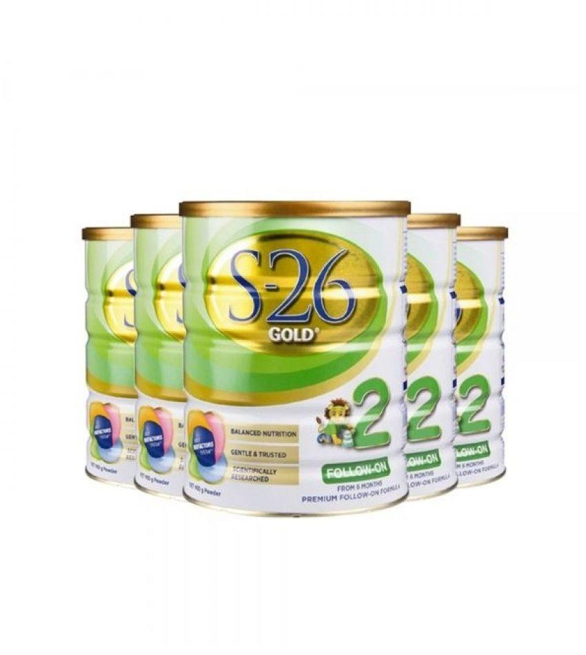 【包邮】S26惠氏 金装婴幼儿奶粉 2段*6罐 适合6-12个月宝宝(22年9月到期)