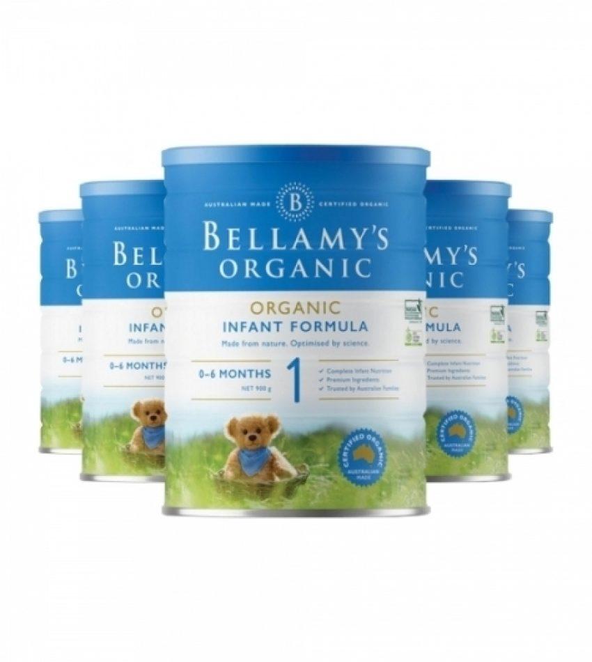 【包邮】Bellamy's贝拉米 婴儿奶粉1段 (0-6个月)一箱3罐(22年6月到期)
