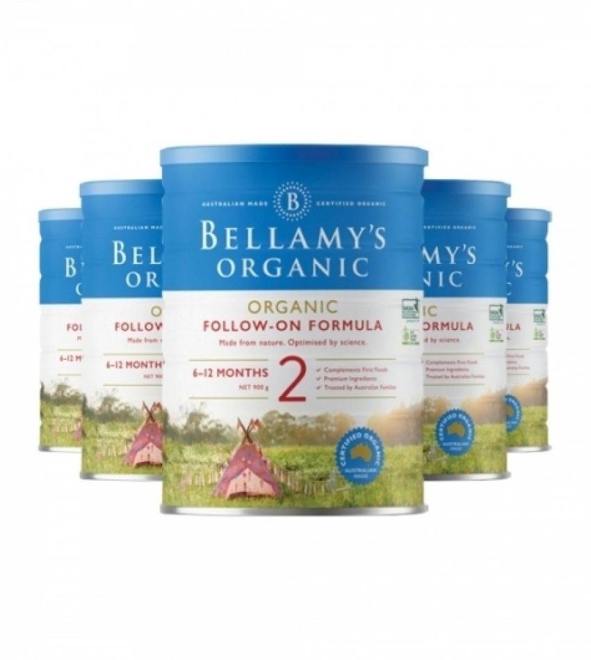 【包邮】Bellamy's贝拉米 婴儿奶粉2段(6-12个月) 一箱6罐(22年4月到期)