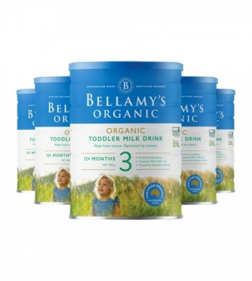 【包邮】Bellamy's贝拉米 婴儿奶粉3段(1岁以上) 一箱3罐 (22年6月到期)
