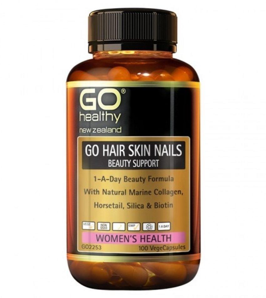 Go Healthy高之源 美肤胶囊胶原蛋白片剂 50粒 Gohealthy Beauty support Hair Nails Skin 50t