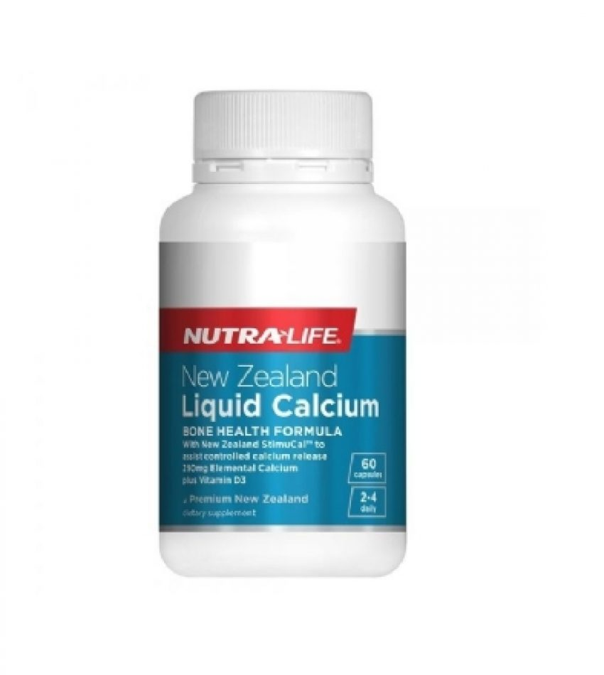 Nutralife纽乐 液体钙 加VD3 60粒,Liquid Calcium plus Vitamin D3