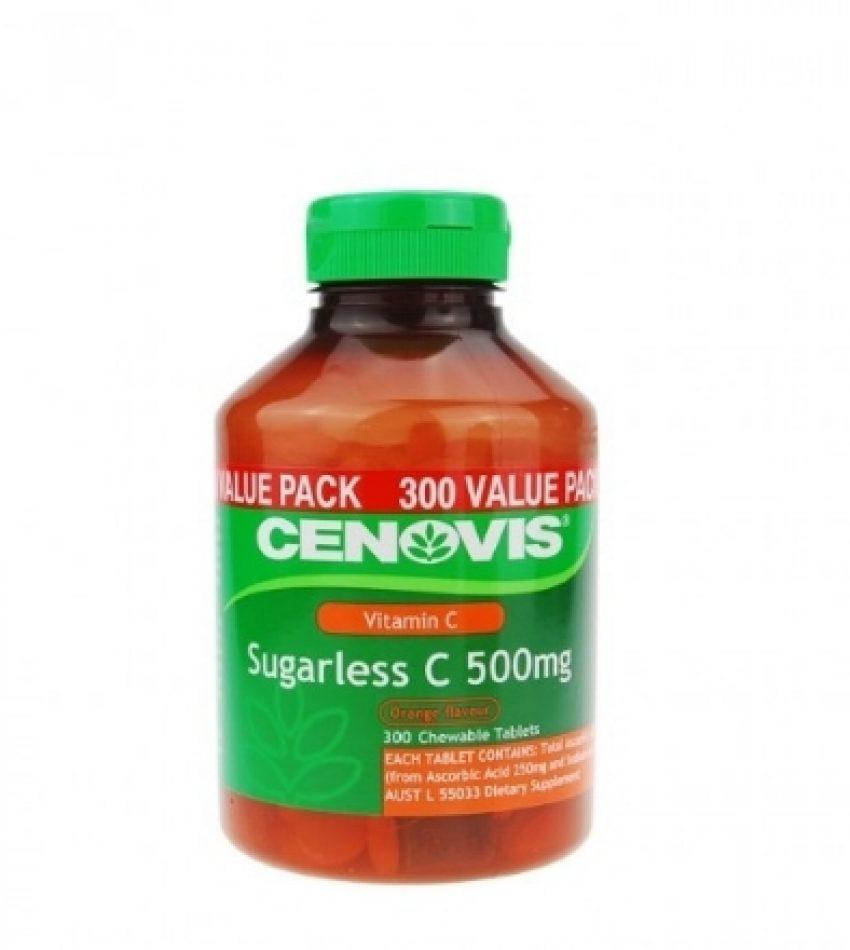Cenovis 低糖配方维生素C含片 VC咀嚼片 500mg 300粒