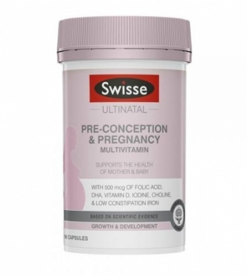 Swisse 孕前孕中哺乳期复合维生素胶囊 孕妇营养素 pre-conception & pregnancy 60粒