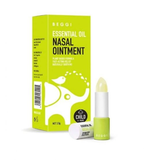 BEGGI 麦卢卡精油护鼻膏 通鼻膏 2岁以上适用 鼻精灵 3.5g Essential Oil Nasal Ointment 3.5g