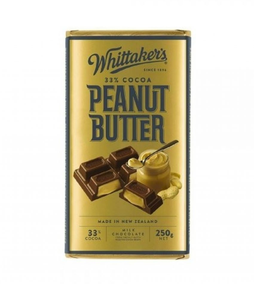 Whittaker's惠特克  浓滑花生酱牛奶巧克力 33%可可 250g