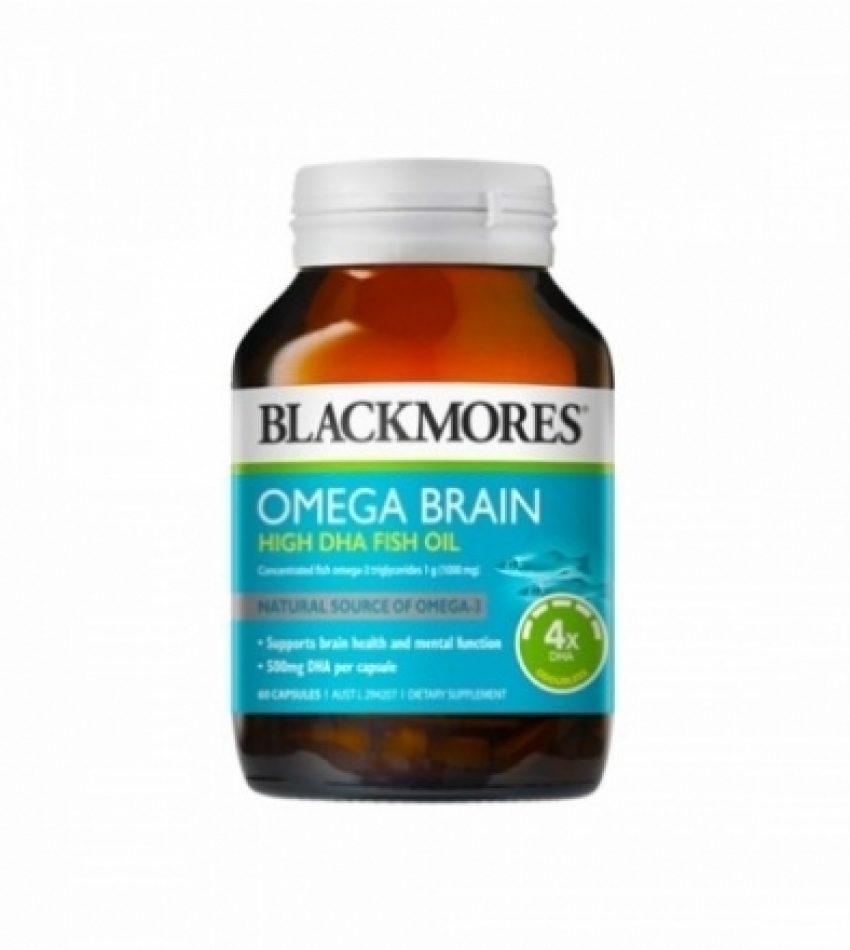 Blackmores澳佳宝 4倍DHA超浓缩 深海健脑鱼油胶囊 补脑益智 60粒(24年1月到期)
