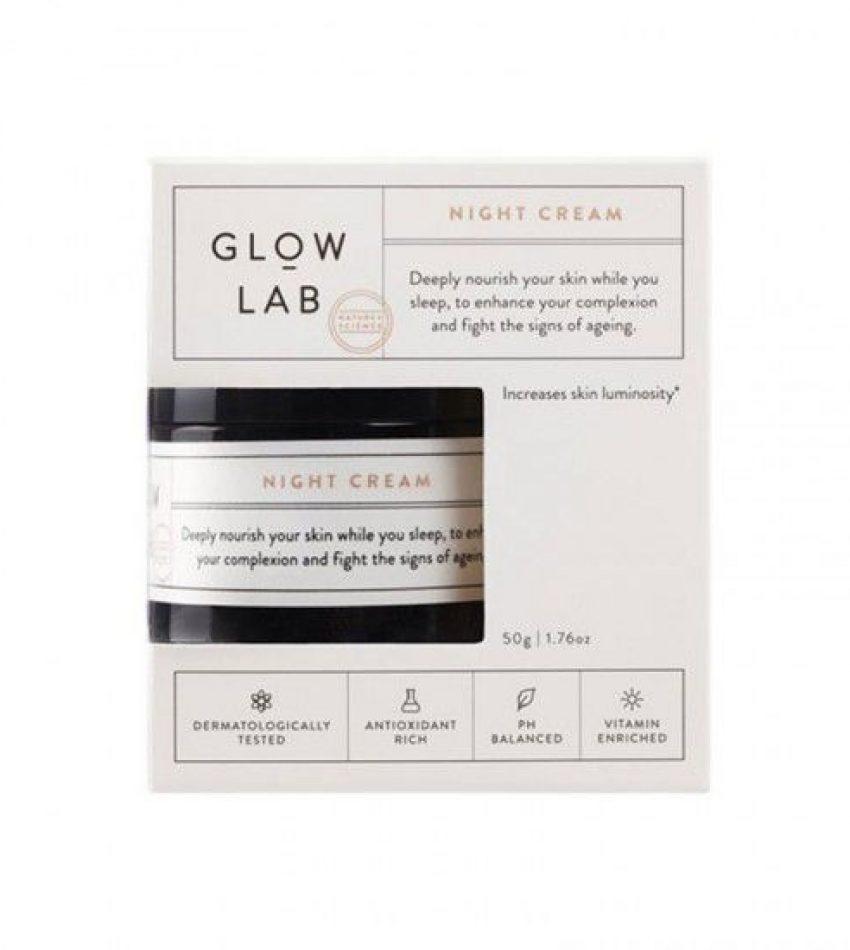 GLOW LAB 紧致滋养 30日亮白 修护晚霜50g, glow lab night cream 50g