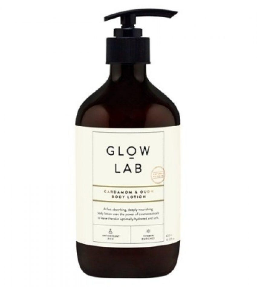 GLOW LAB 小豆蔻沉香身体乳 400ml 黑雪松与杜松 中性木质香味 Glow Lab Cardamom & Oudh Body Lotion 400ml