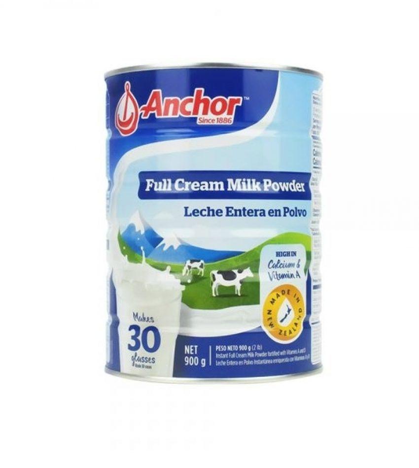 【包邮】Anchor安佳 罐装全脂奶粉 Full Cream Milk Powder 高钙高营养 900g 6罐装(23年2月到期)