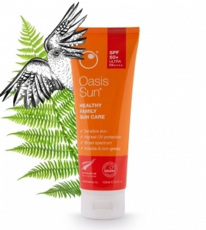 Oasis绿洲 (敏感肌肤可用)Oasis 纯天然 SPF50+ 极致优化版 防晒霜100ml Oasis Sun SPF50+ Ultra PA++++ Healthy Family Sun Care 100ml