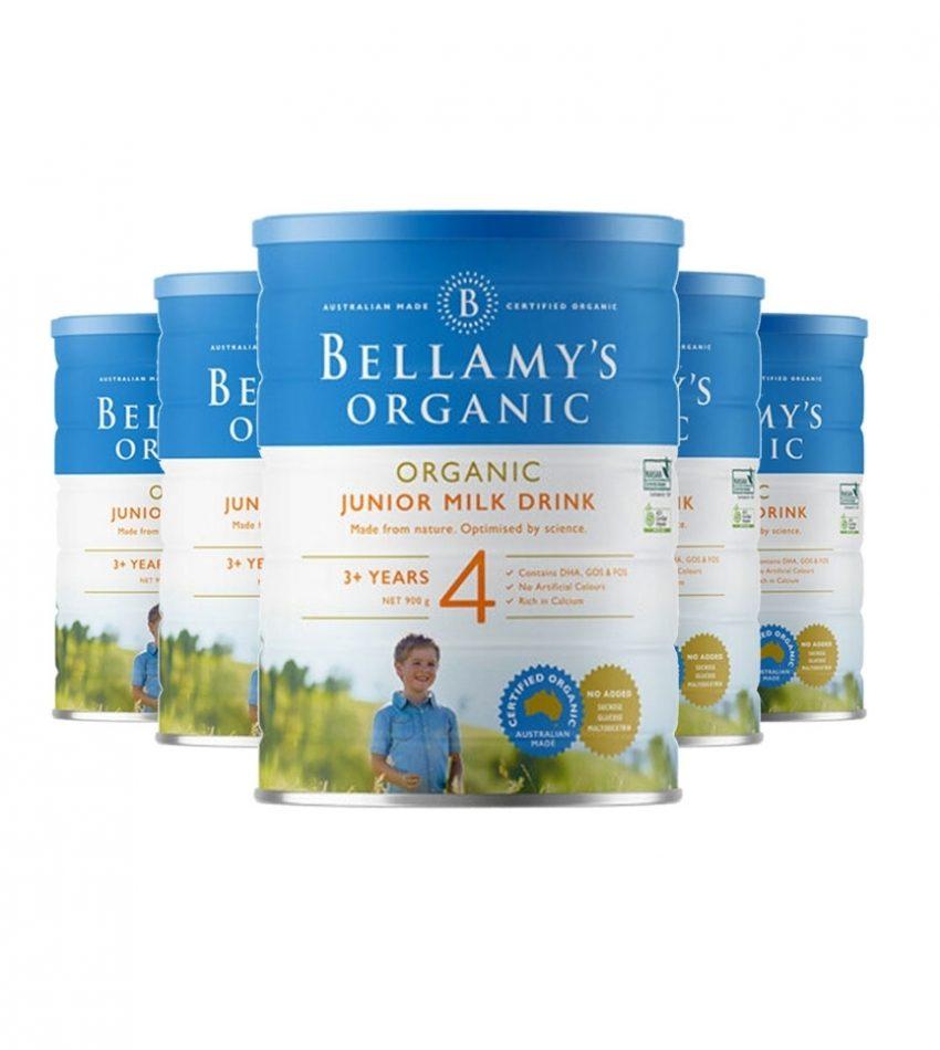 【包邮】Bellamy's贝拉米 婴儿奶粉4段(3岁以上) 一箱3罐(22年6月到期)