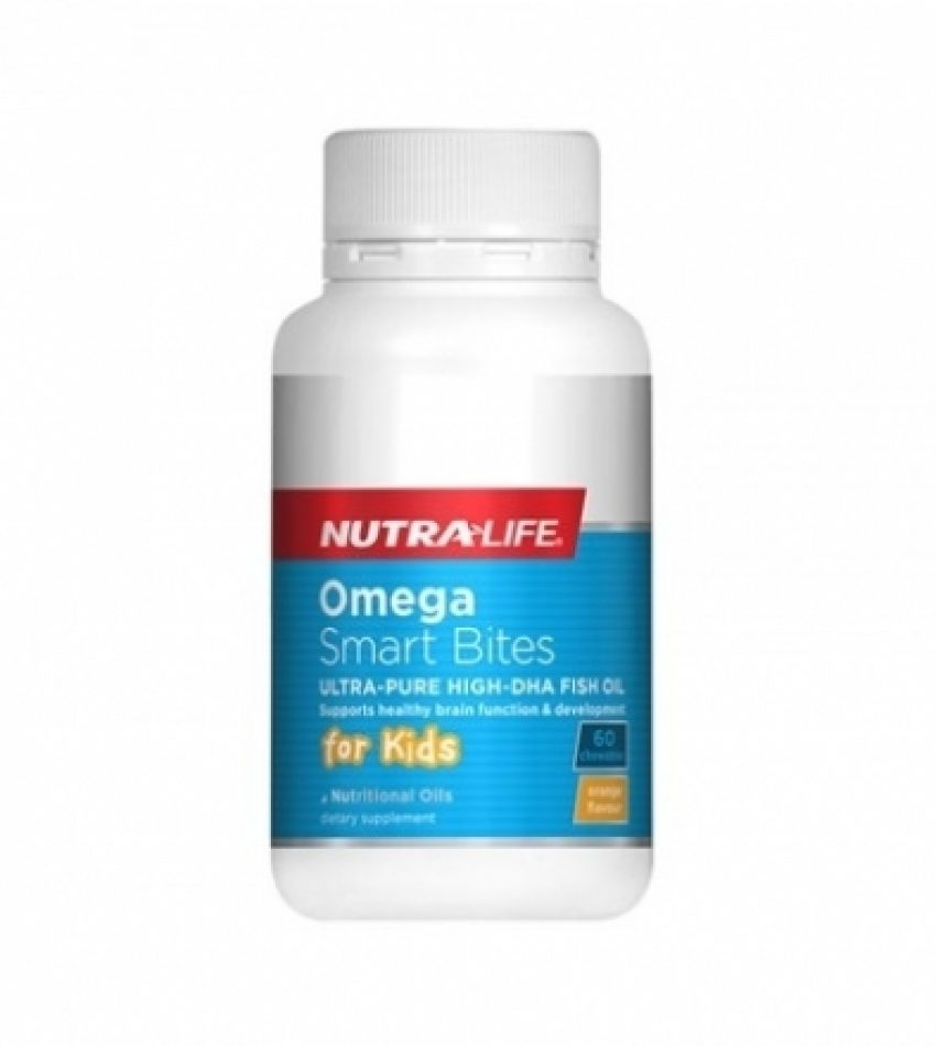Nutralife纽乐 儿童聪明咬咬丸 高含量DHA鱼油 60粒, Nutralife Omega Smart Bites 60c(21年11月到期)