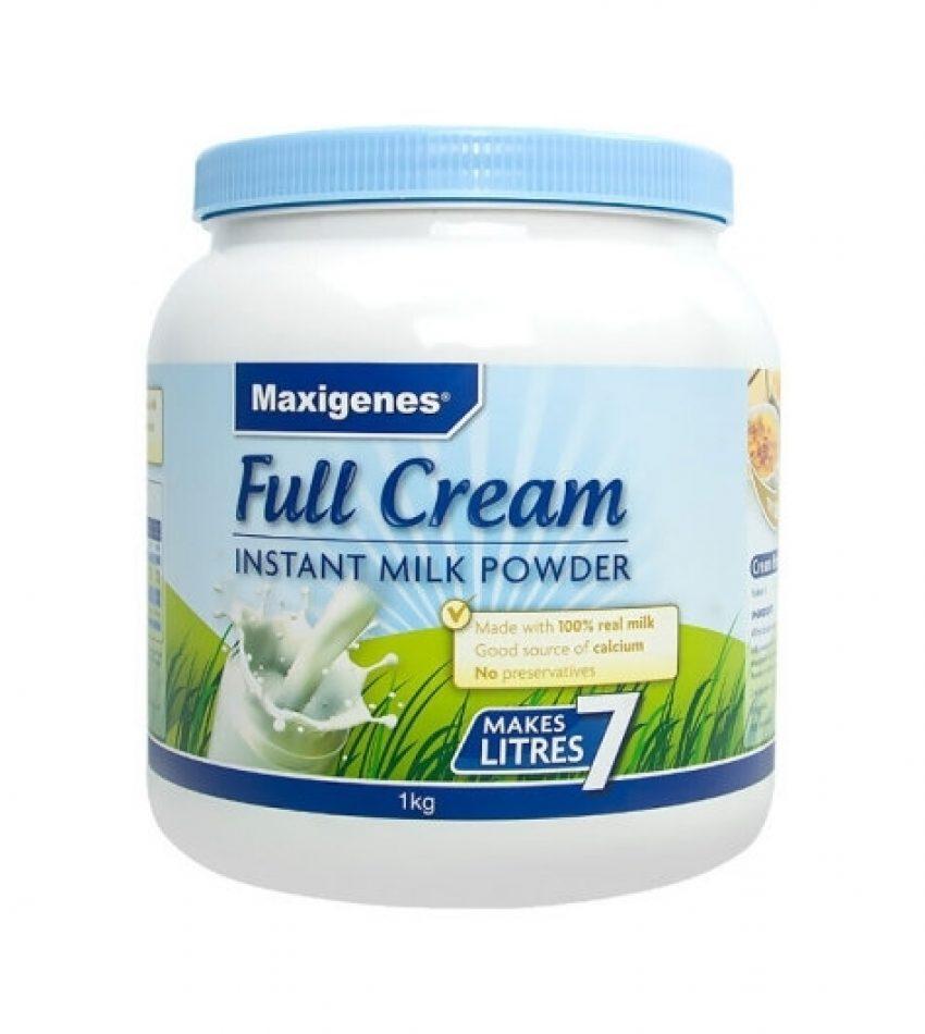 (包邮) Maxigenes 美可卓 蓝胖子全脂高钙奶粉 1kg*3罐/6罐 (22年2月到期)