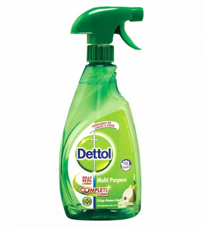 Dettol Antibacterial Spray Cleaner Multipurpose Crisp Green Apple trigger 500ml, 抗菌喷雾多用途清洁剂