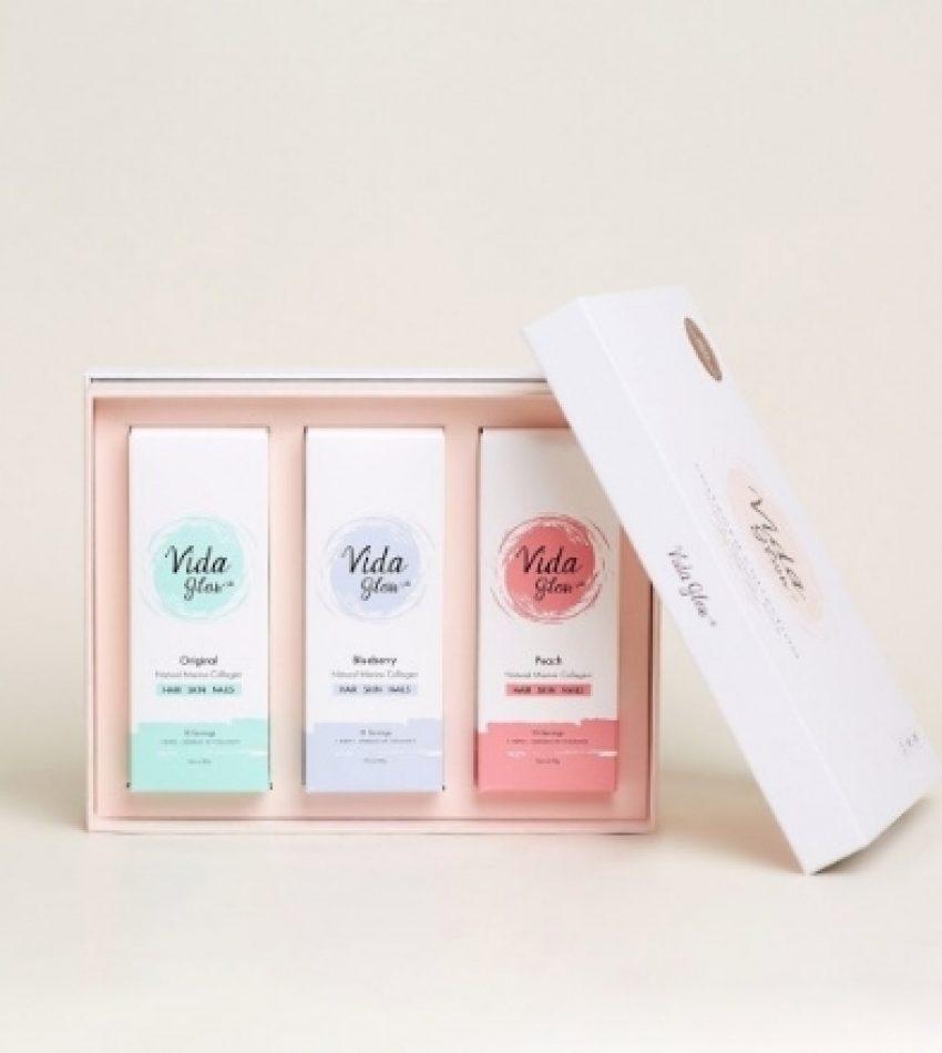 Vida Glow胶原蛋白粉臻享礼盒(含原味/蜜桃/蓝莓各10条X3克)