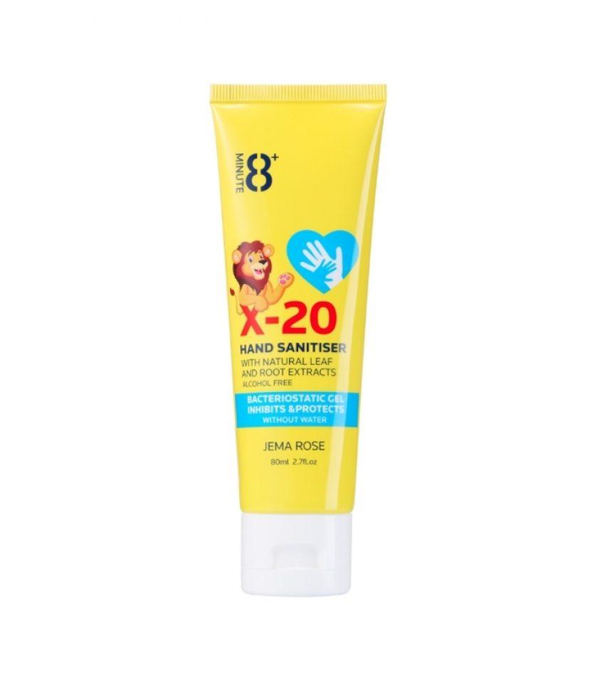 8+ Minute 8分钟 X-20 银离子消毒免洗洗手液 80ml(不含酒精)(22年3月到期)