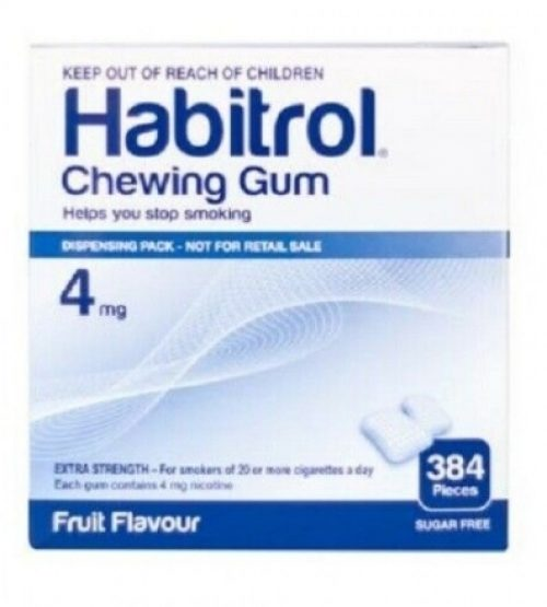 Habitrol chewing gum 4mg fruit flavour 384p 戒烟口香糖 水果味 384粒 (2022年初到期)