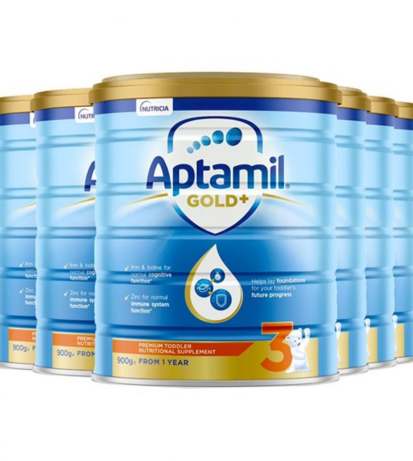 【包邮】Aptamil爱他美 金装婴儿奶粉900克6罐 3段(1-2岁) Nutricia Aptamil Toddler Gold+ 3 From 1years(23年3月到期)