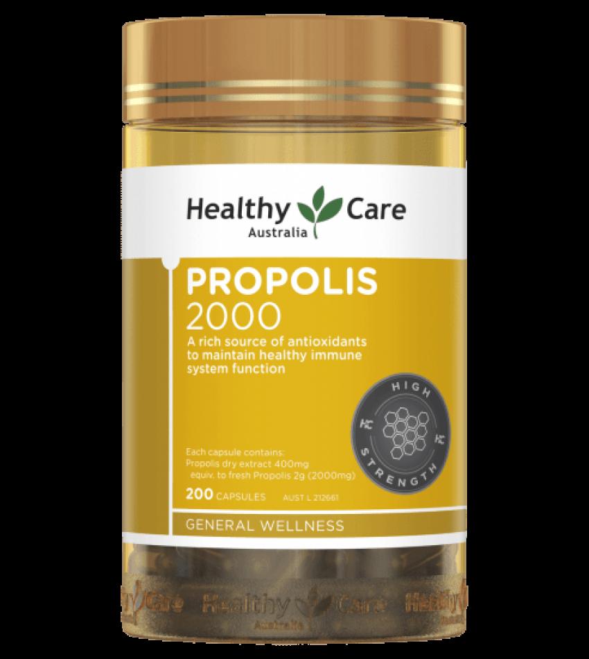 Healthy Care 黑蜂胶软胶囊 2000mg 200粒 Healthy Care Propolis 2000mg