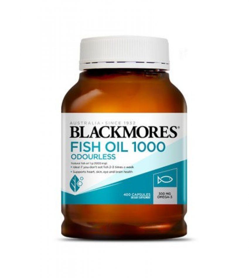 Blackmores澳佳宝 无腥味鱼油软胶囊 400粒 Blackmores ODOURLESS Fish Oil 1000mg 400Cap(24年初到期)
