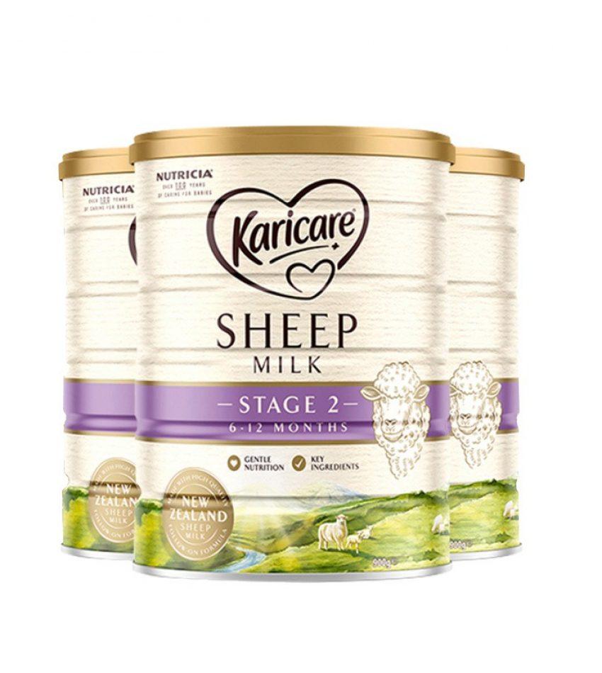 【包邮】可瑞康 Karicare 婴儿绵羊奶粉 2段 900g*3罐(22年12月到期)