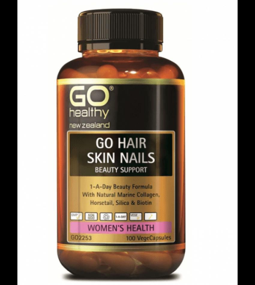 GO Healthy hair skin nails beauty support 100c 高之源 胶原蛋白胶囊100粒(23年初到期)