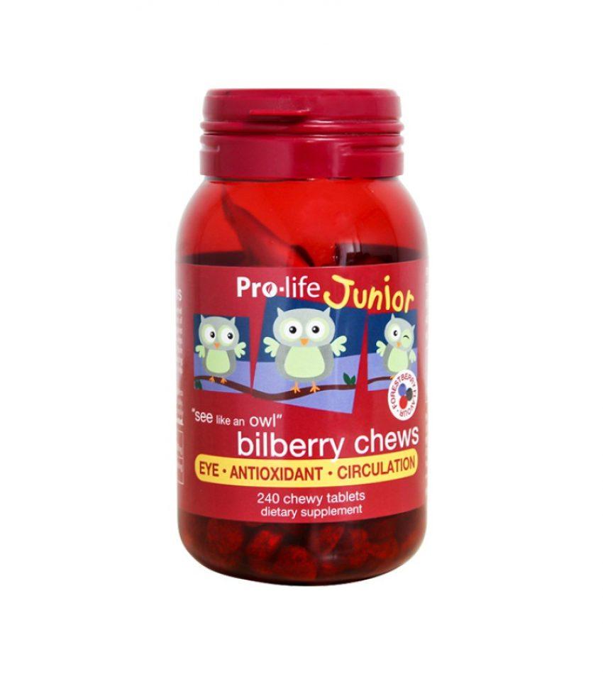Prolife 儿童蓝莓越橘护眼咀嚼片 240片 Prolife Junior Bilberry Chews 240Tab