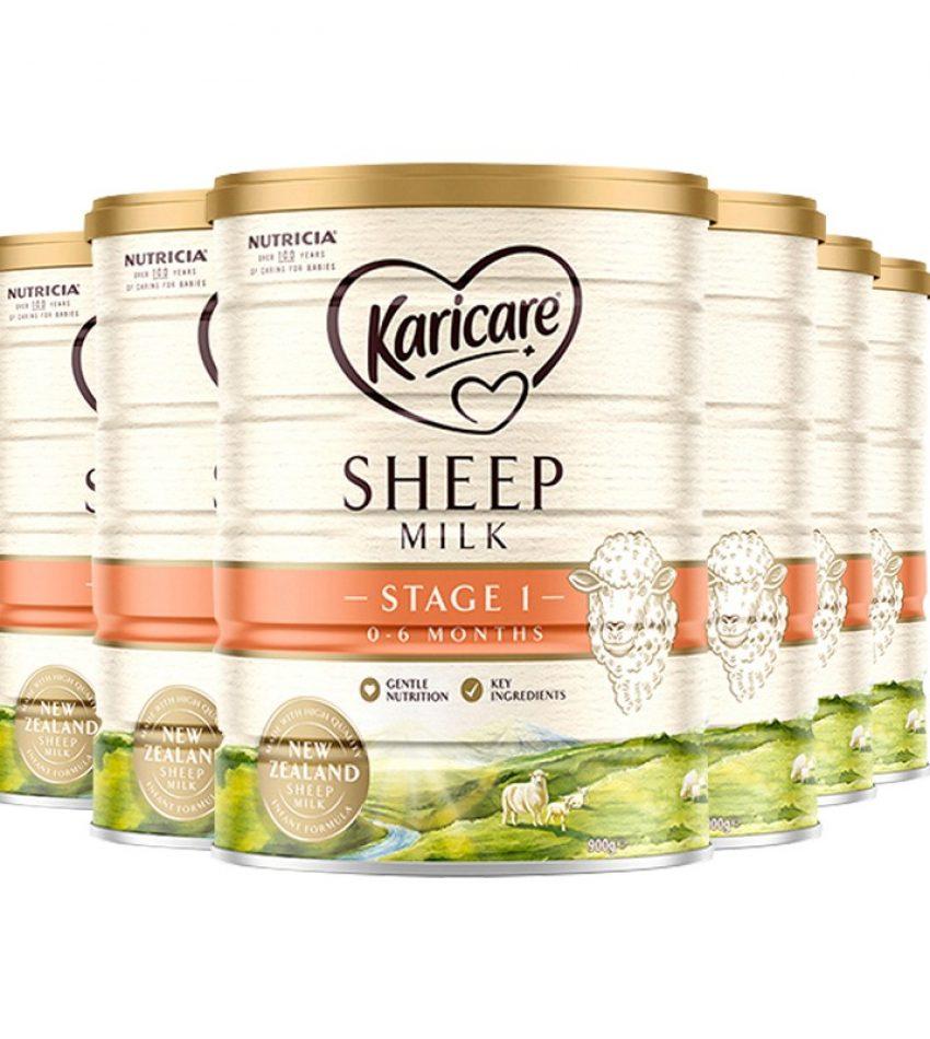 【包邮】可瑞康 Karicare 婴儿绵羊奶粉 1段 900g*3罐(23年5月到期)