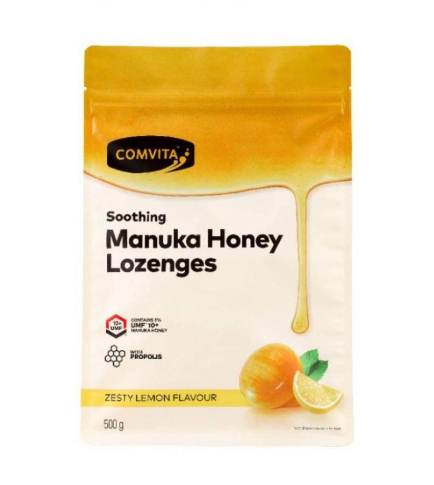 Comvita康维他 麦卢卡蜂蜜蜂胶润喉糖蜂胶糖 500g Comvita Manuka Honey Lozenges 500g 柠檬味/薄荷味/橄榄味 可选(23年底到期)
