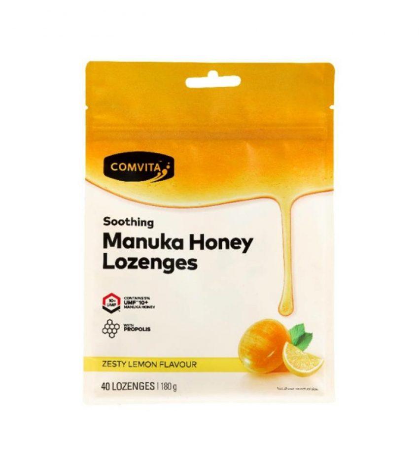 Comvita康维他 麦卢卡蜂蜜蜂胶糖  UMF10+ 40粒 COMVITA LOZENGES WITH PROPLOLIS LEMON & HONEY 40S 柠檬味/薄荷味/橄榄味 可选