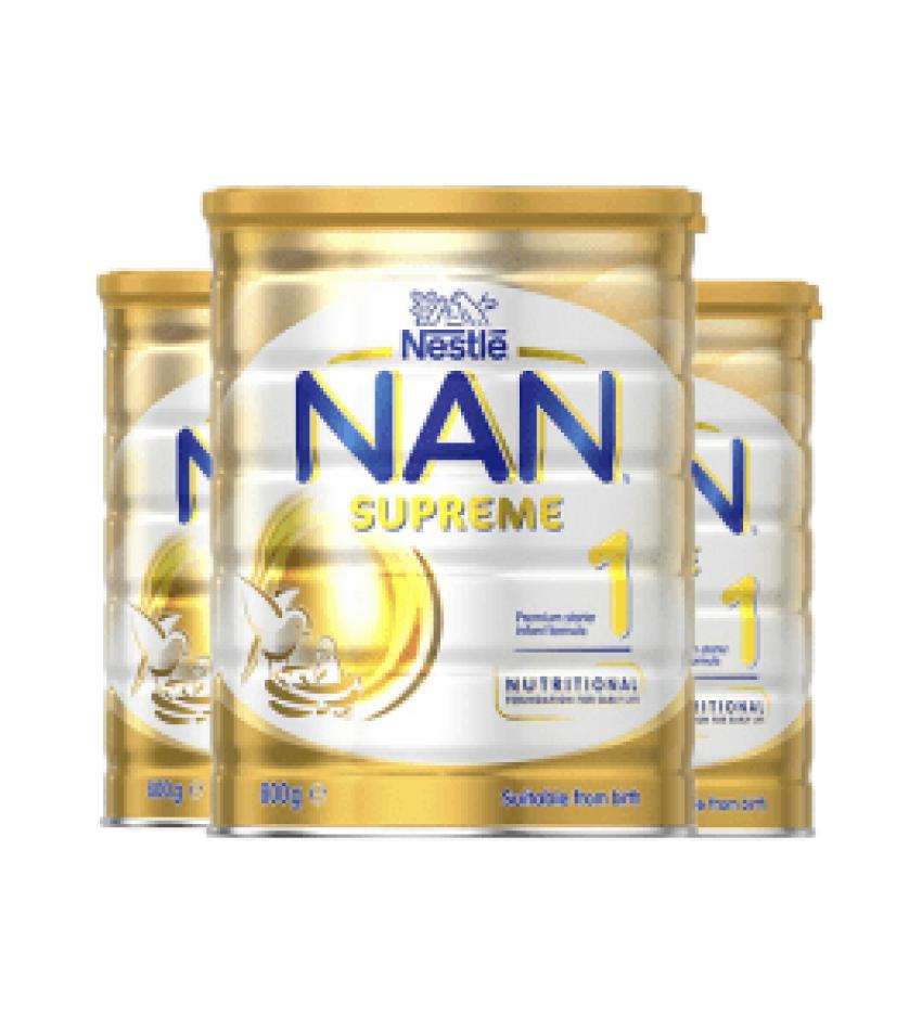 Nestle 雀巢超级能恩适度水解婴幼儿奶粉1段 (0-6个月适用) 800g*3罐(22年5月到期)