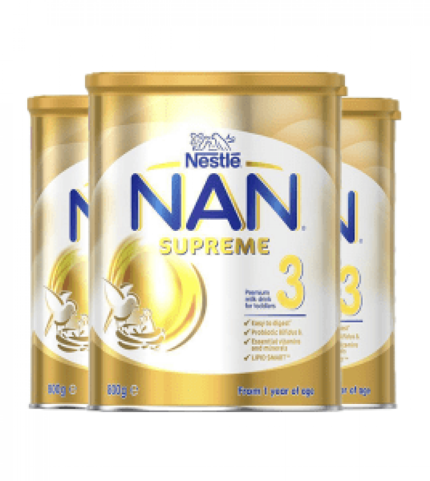 Nestle NAN 雀巢能恩Supreme婴儿配方奶粉3段(适合1-2岁) 800g*3罐(22年6月到期)