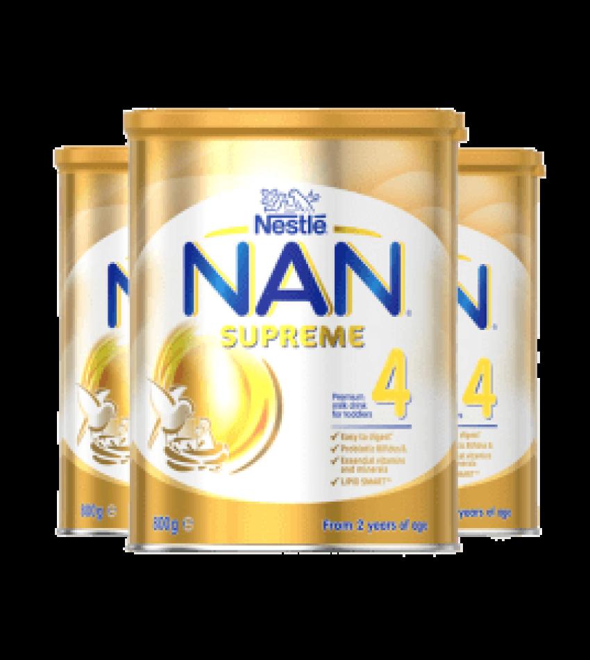 Nestle NAN 雀巢能恩Supreme婴儿配方奶粉4段(适合2岁以上) 800g*3罐(22年5月到期)