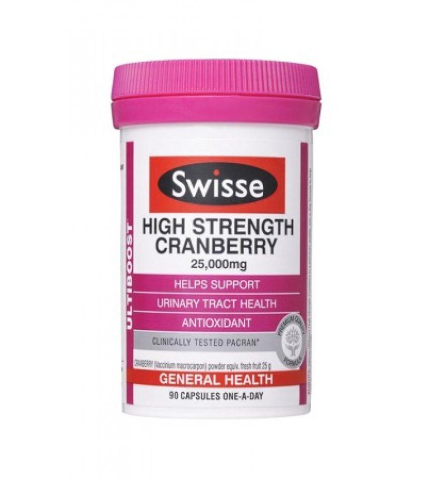 Swisse high strength cranberry 25000mg 90c 高浓度蔓越莓精华 90粒(23年中到期)